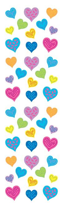 Happy Hearts, sticker, Mrs. Grossman's stickers