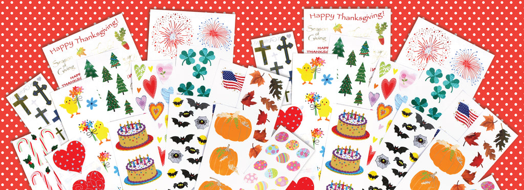 All Season Jumbo Sticker Pack - Mrs. Grossman's