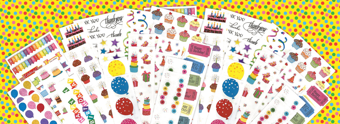 Celebration Jumbo Sticker Pack - Mrs. Grossman's