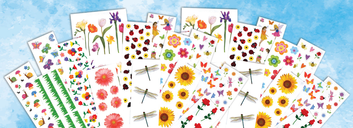 Garden Faire Jumbo Sticker Pack - Mrs. Grossman's
