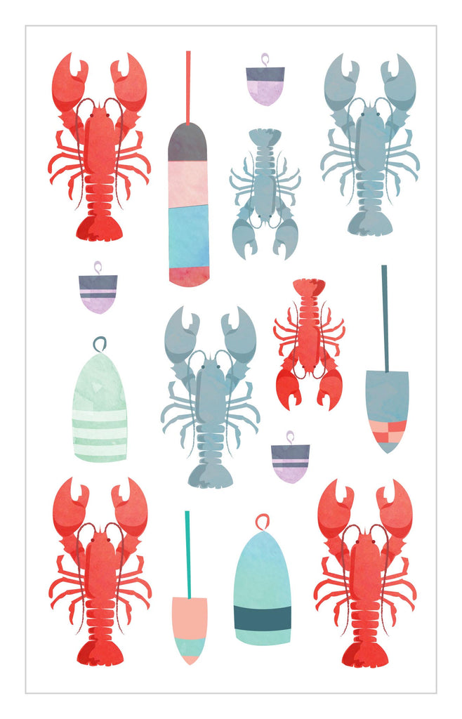 Watercolor Lobsters Stickers - Mrs. Grossman's