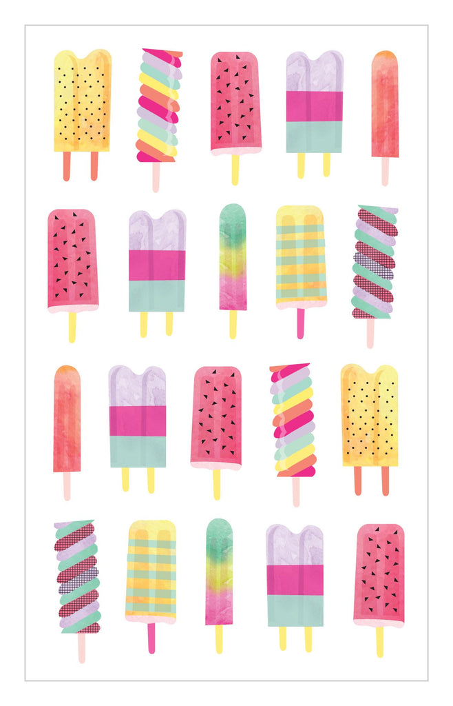 Watercolor Popsicles Stickers - Mrs. Grossman's
