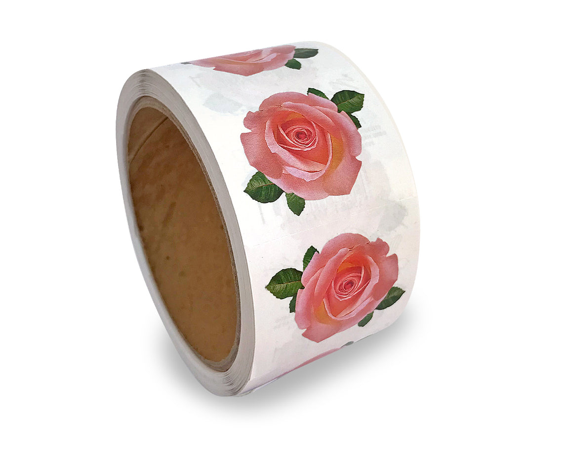 Pink Rose Sticker Rolls
