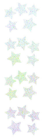 stars, silver sparkle, stickers, Mrs. Grossman's Sticker Factory
