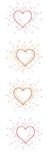 Heart Burst, Reflections Stickers - Mrs. Grossman's