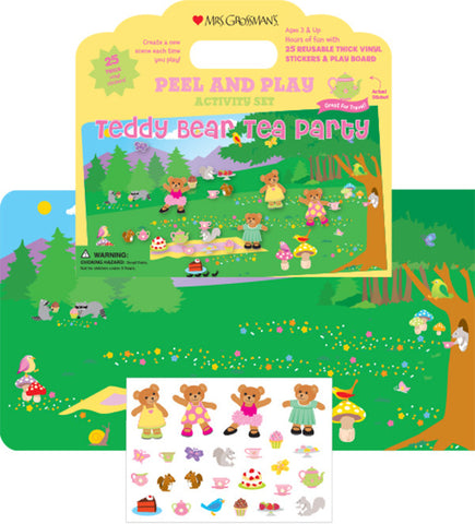Teddy Bear Tea Party Peel & Play