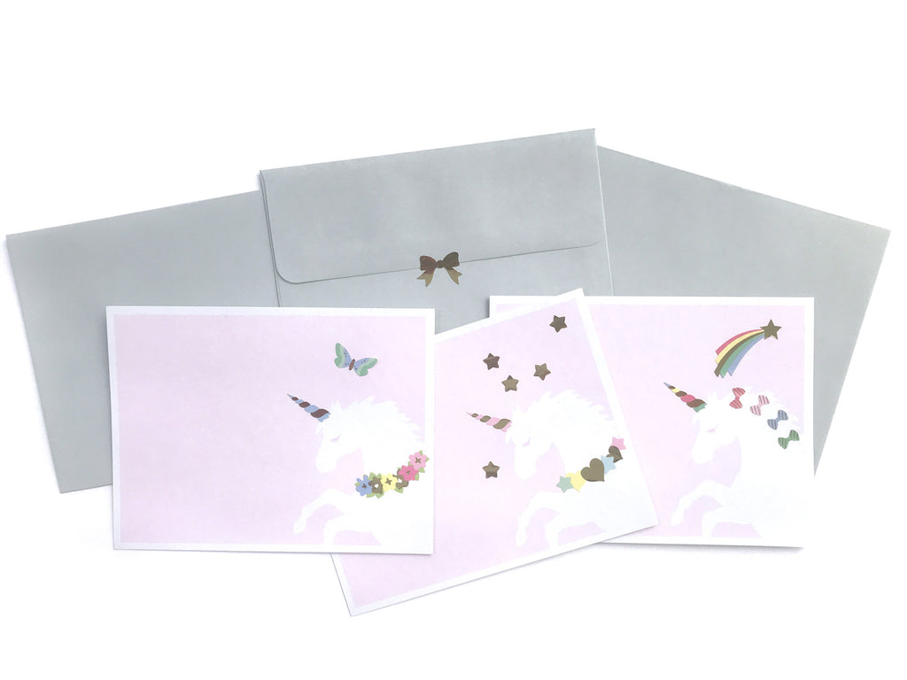 Unicorn Wishes Design Your Own Sticker Notecards