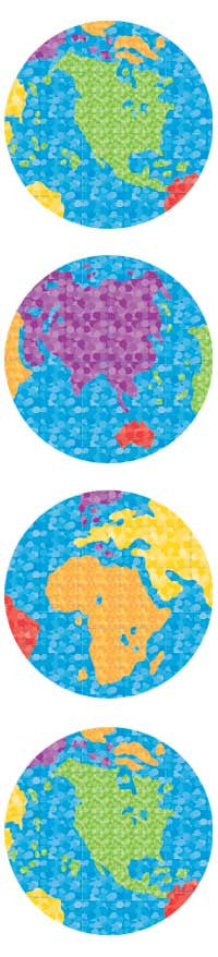 World, sticker, Mrs. Grossman's Stickers