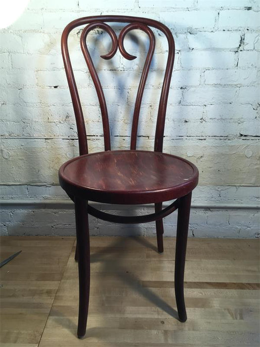 Burgundy Bentwood Chair