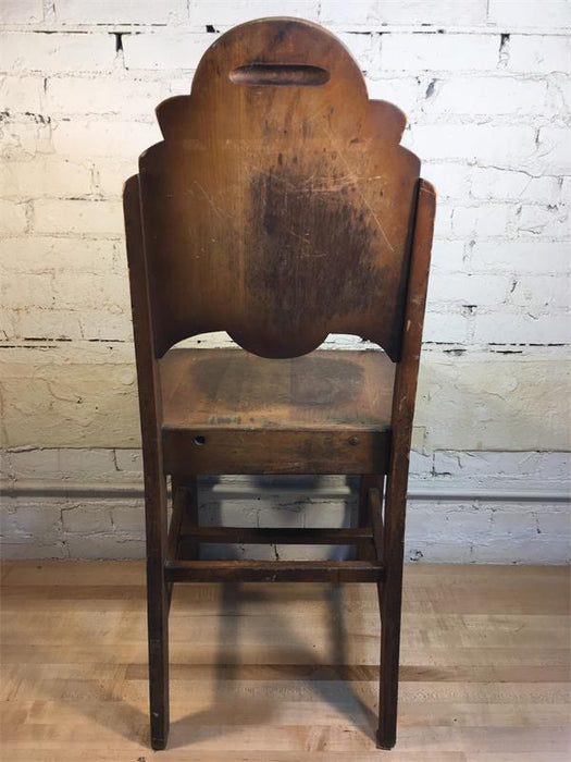 Wood Shield Back Chair