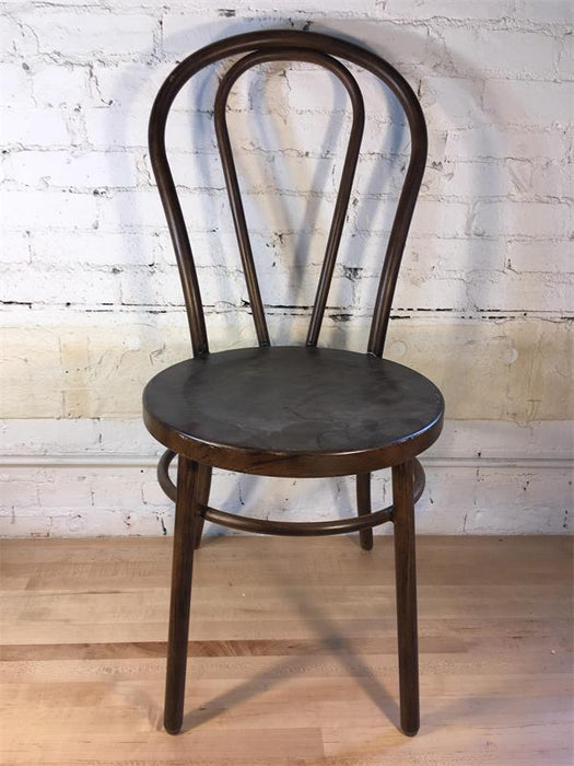 Brown Metal Bentwood Chair