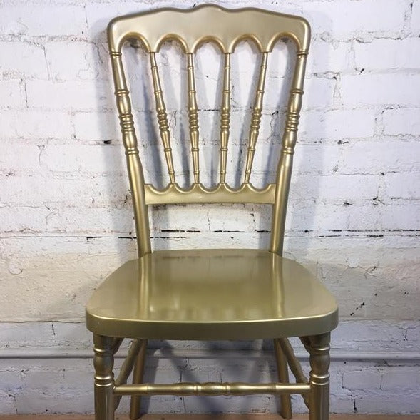 Gold Plastic Banquet Chair