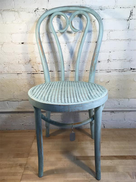 Blue Bentwood Chair