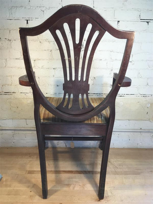 Wood Chippendale Arm Chair
