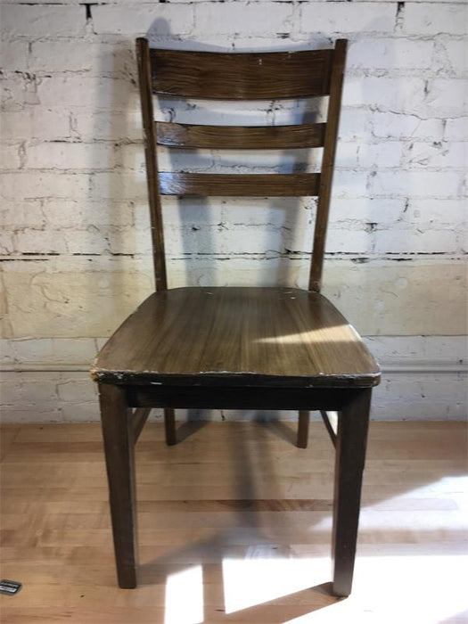 Brown Ladder Back Chair