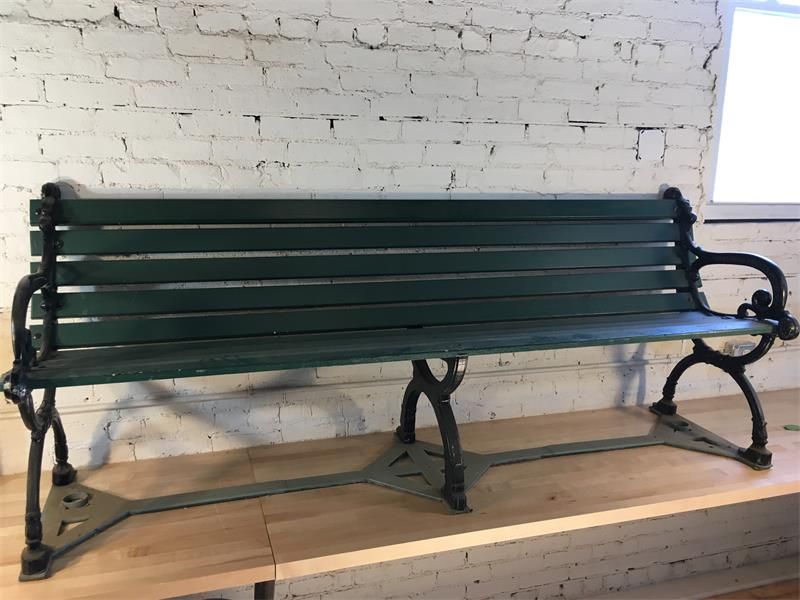 Large Green Park Bench - Cast Iron