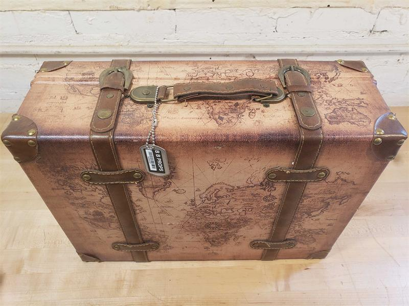 Map Print Suitcase