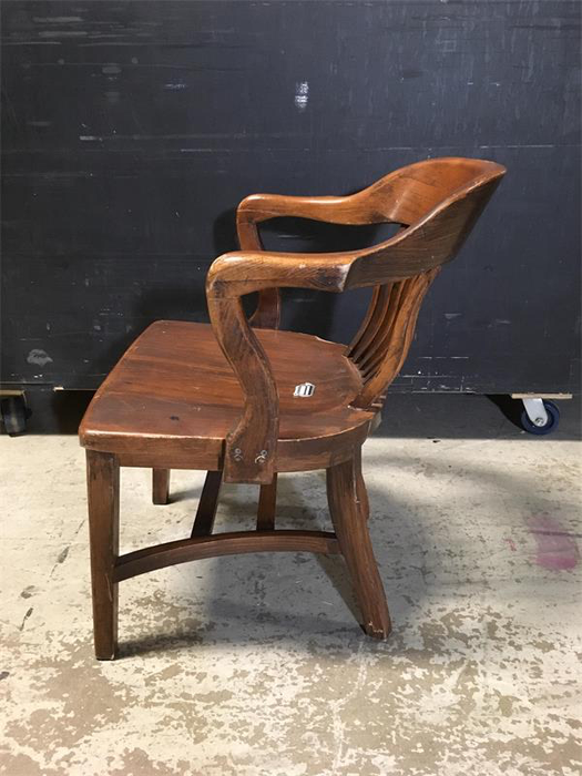 Wood Arm Chair - Banker Style
