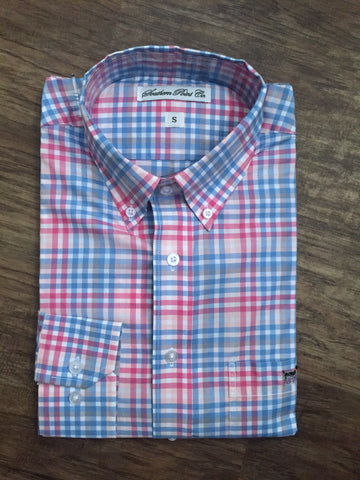 Southern Point Hadley- Blue/Pink/White Plaid