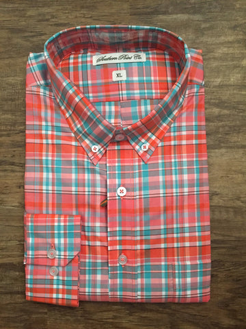 Southern Point Hadley- Orange/Green/White Plaid