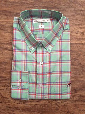 Southern Point Hadley- Green/Purple/Red Plaid