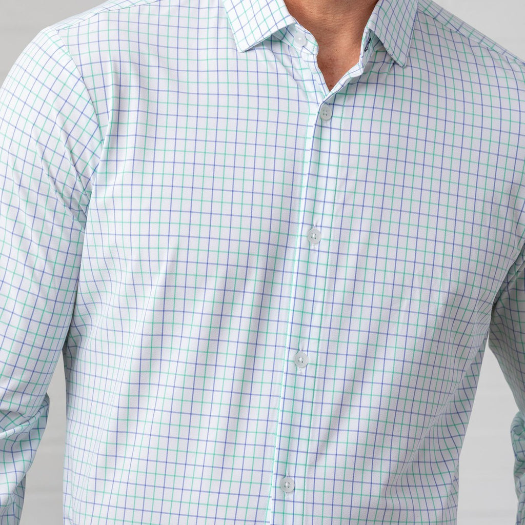 "Mizzen+Main ""Hopkins"" Light Green Check"