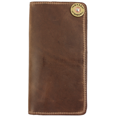 Over Under Horween Checkbook Wallet