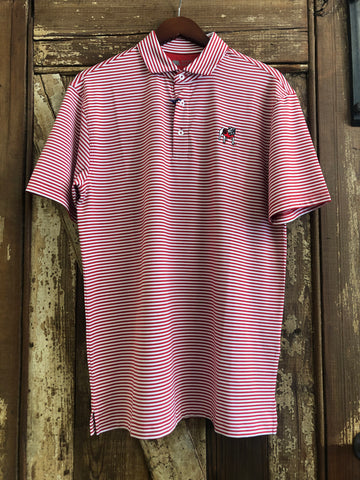 Onward Reserve UGA Pro Stripe Polo- Red