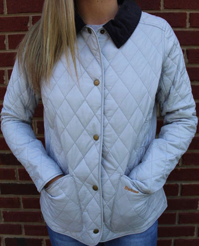 Barbour Annandale Quilt- Ice White