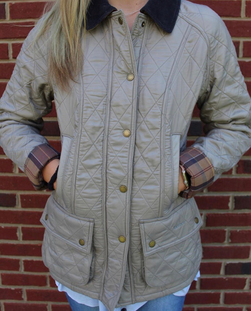 Barbour Ladies Beadnell- Polar Taupe