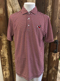 Onward Reserve Triple Stripe UGA Performance Polo