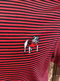 Onward Reserve UGA Pro Stripe Polo-Black/Red