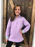 Southern Shirt Co. Girls Adventure Pullover- Lavender/Blue