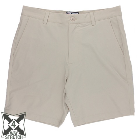 Over Under Cross Current Performance Short- Khaki