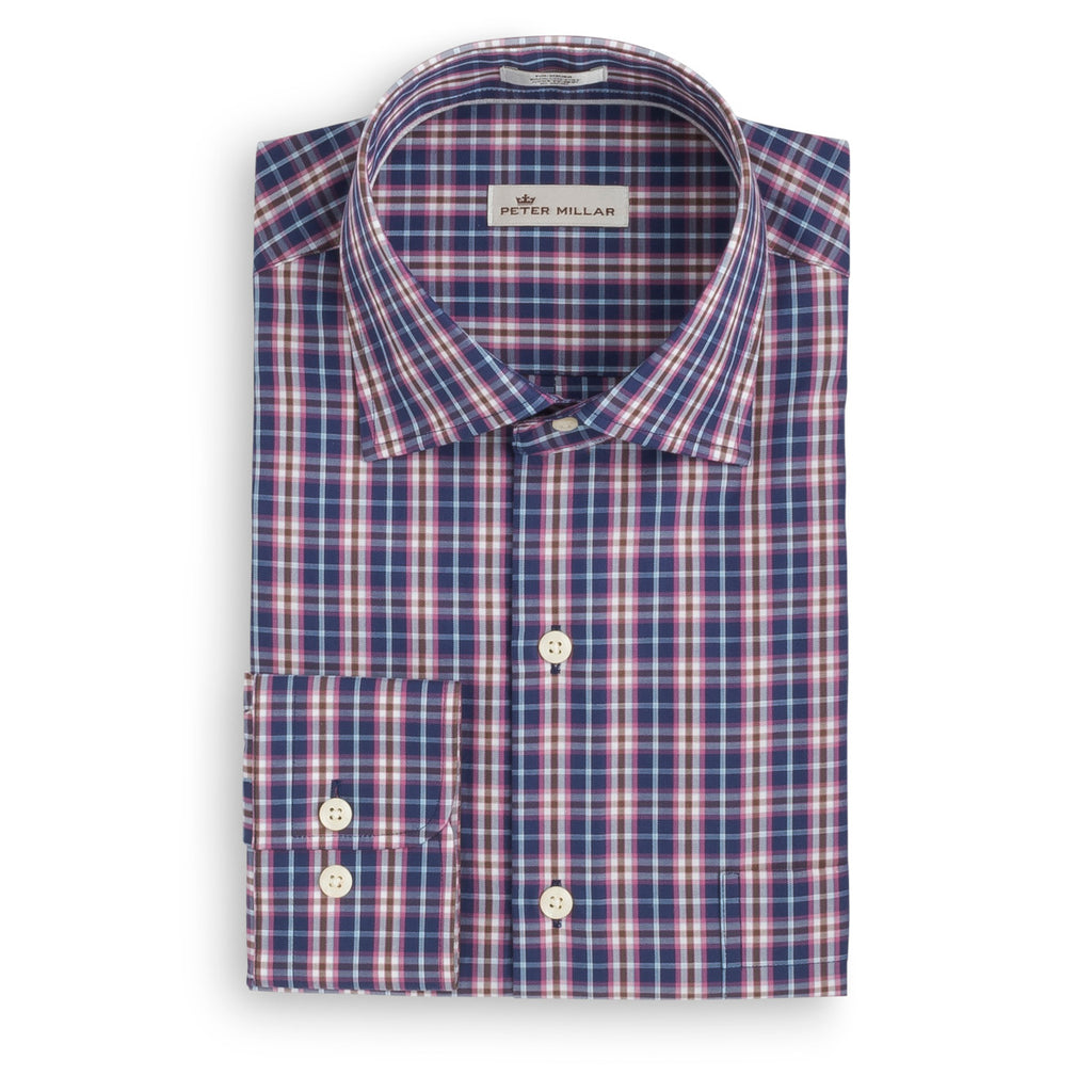 Peter Millar Mitchell Plaid Sport Shirt- Starfall