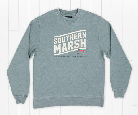 Southern Marsh Fly Line Sweatshirt- Burnt Sage