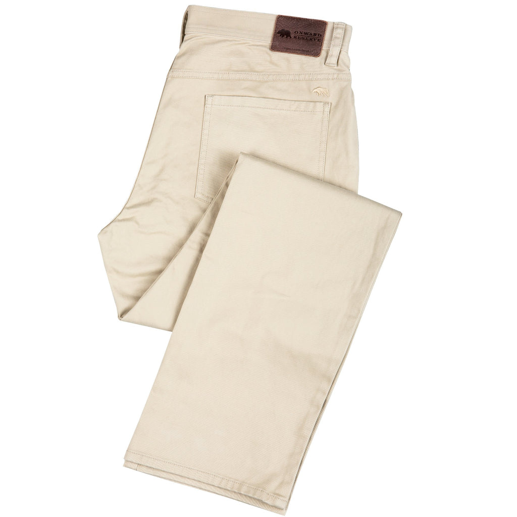 Onward Reserve Performance 5 Pocket Pant- Tan