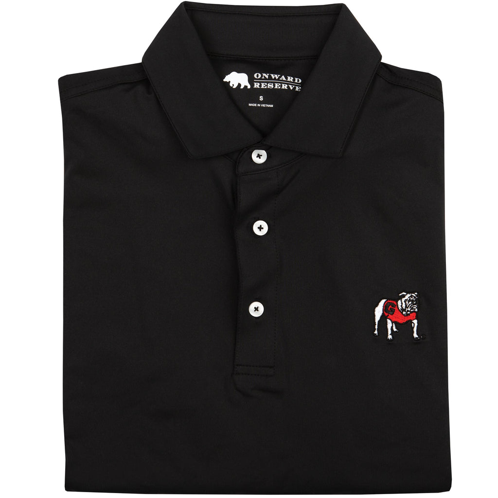 Onward Reserve UGA Solid Black Polo