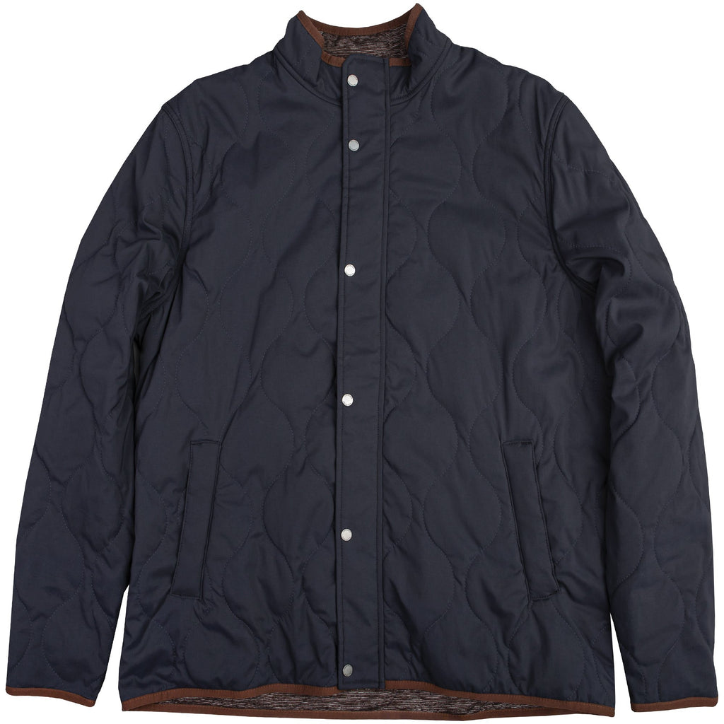 Onward Reserve Candler Quilted Coat- Brushed Navy