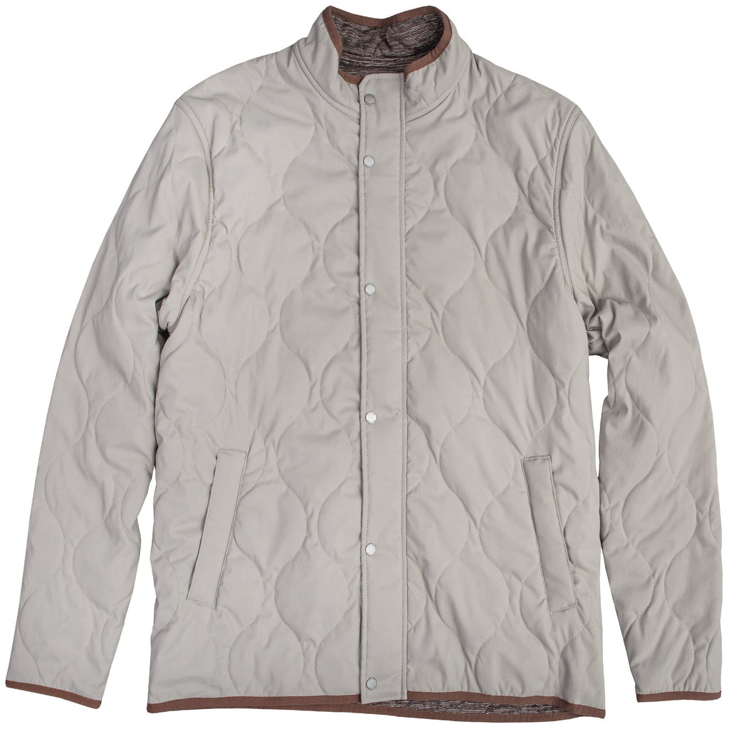 Onward Reserve Candler Quilted Coat- Pebble Grey