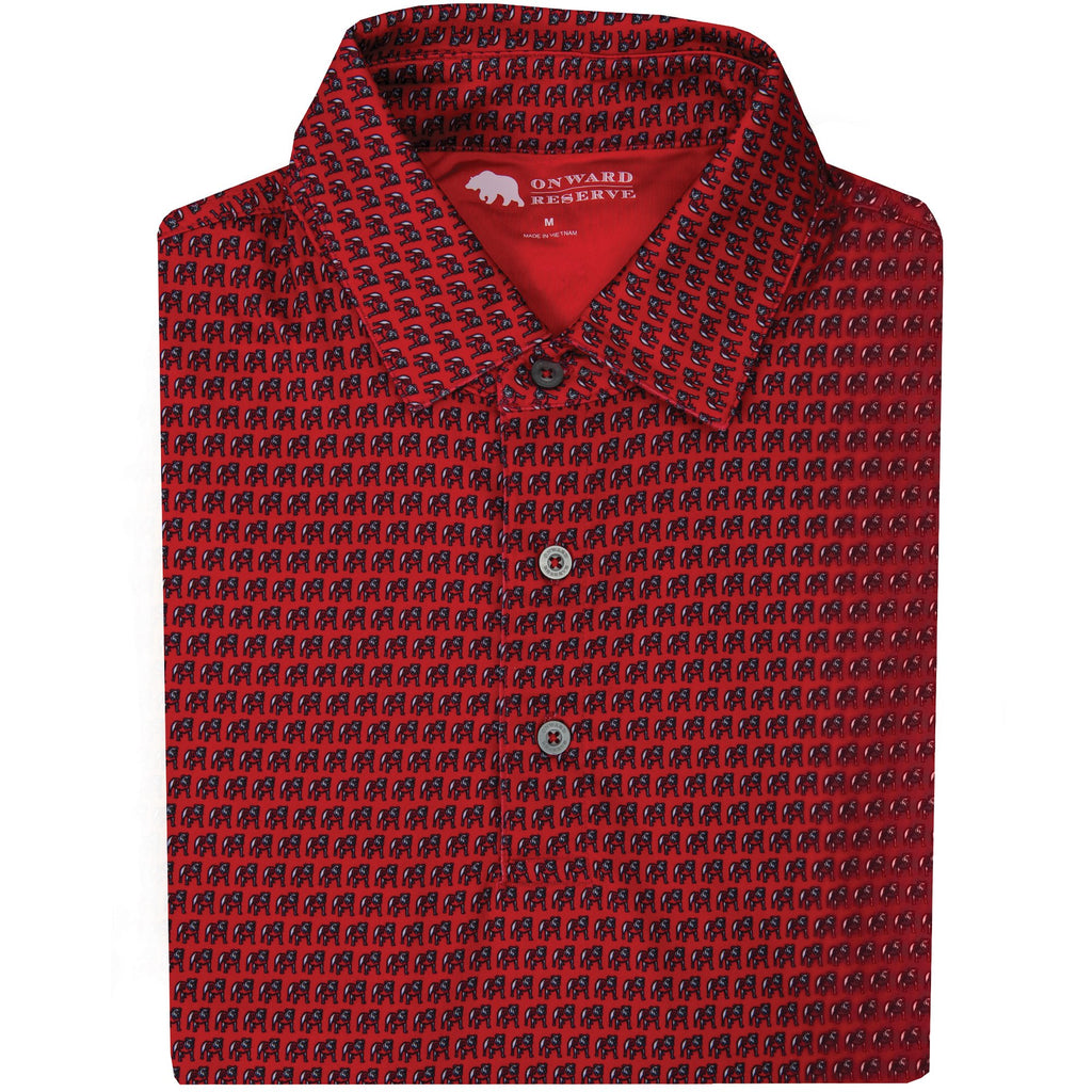 Onward Reserve Standing Bulldog Polo- Red