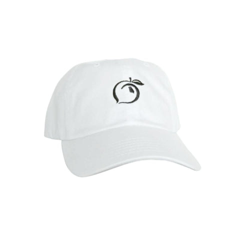 Peach State Pride Classic Adjustable Cotton Hat- White