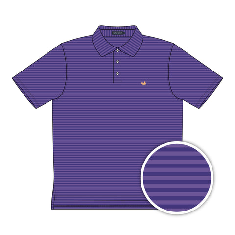 Southern Marsh Somerset Polo- Purple&Wharf