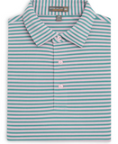 Peter Millar Tygra Stripe Stretch Mesh Polo- Fish Trap