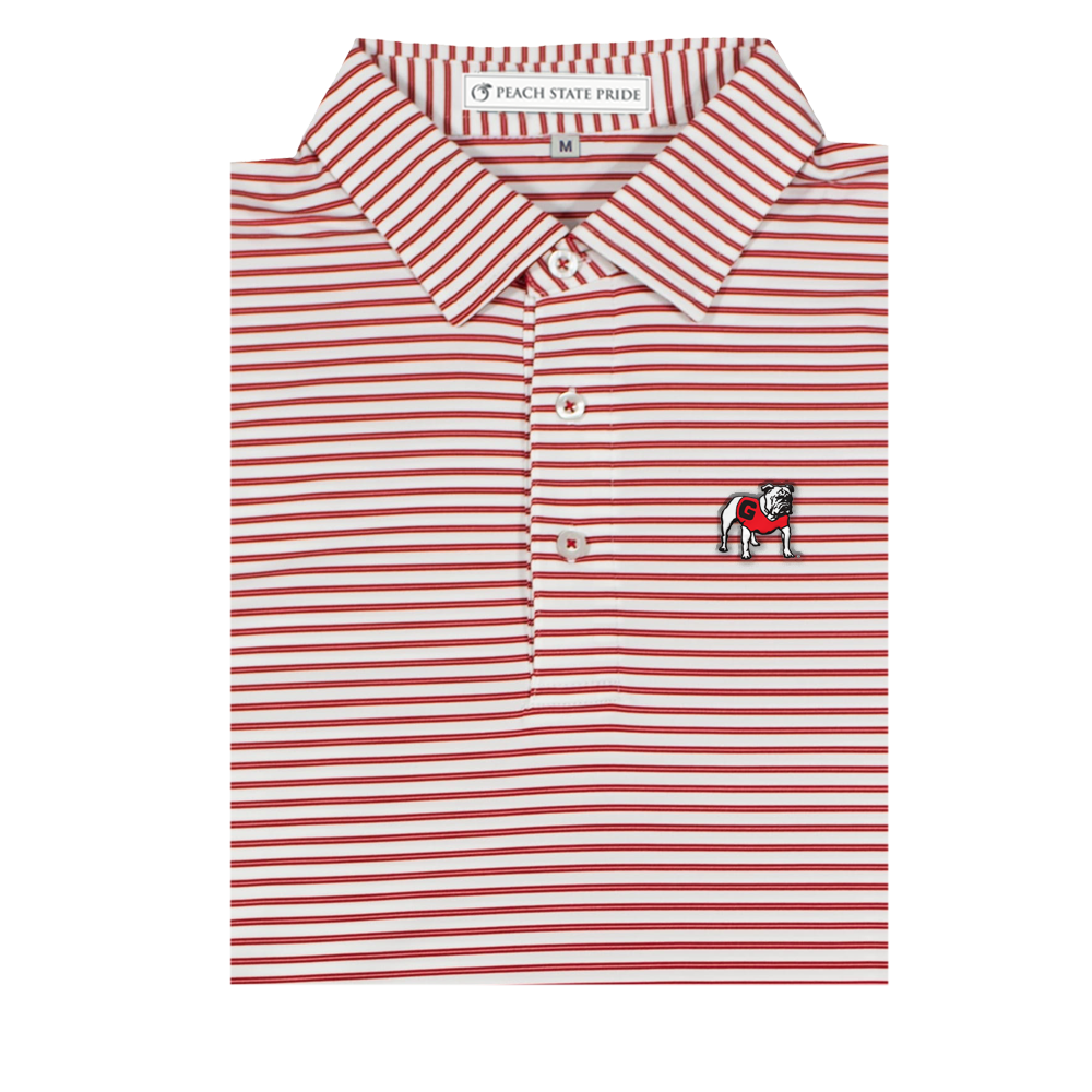 Peach State Pride UGA Honeysuckle Stripe- Red&White
