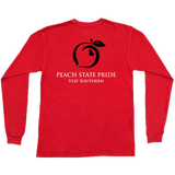 Peach State Pride LS Classic Stay Southern- Red