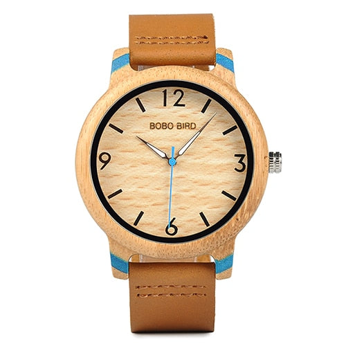 BOBO BIRD Lovers' - Handmade Bamboo Analog Wristwatch