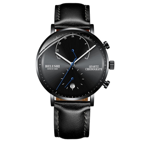 Belushi Quartz Chronograph Men's Business Wristwatch Waterproof