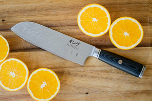 Kingu Black Series - Damascus 7 inch Santoku