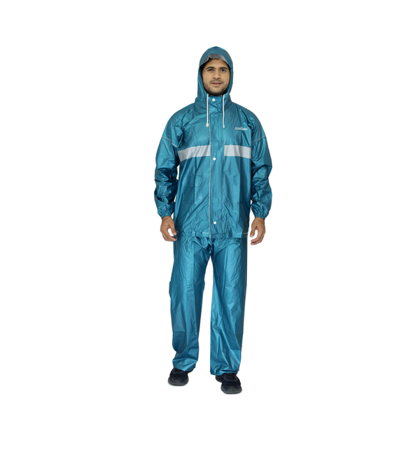 Azure Men's Raincoat